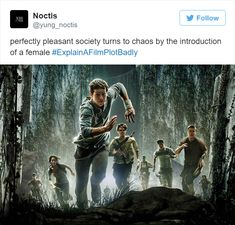 explain a film plot badly - maze runner edition The Maze Runner, Maze Runner Funny, Maze Runner Quizzes, Maze Runner Trilogy, Maze Runner Series, Thomas Brodie Sangster, Movie Plots Explained Badly, Explain A Film Plot Badly, Faces Film