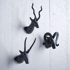 Horned Animal Hooks