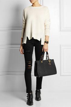 MICHAEL Michael Kors | Cynthia medium textured-leather tote | NET-A-PORTER.COM