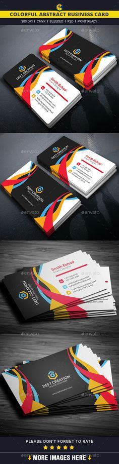 Colorful Abstract Business Card - Creative Business Cards