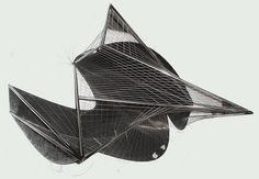 Pavillon Philips, exposition internationale de 1958, Brussels, Belgium, 1958 Steel model.