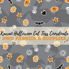 823d18b0cb0 BWD Exclusive - Kawaii Halloween Cat Toss Coordinate on Grey Cotton Spandex  Jersey Knit Fabric. Kawaii HalloweenHalloween CatCustom Printed  FabricPrinted ...