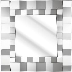 f00875443e6 Chunky Block Square Glass Mirror 91x91cm (DEC22) - Soraya Interiors UK  Living Room Furniture