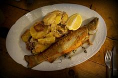 Sofia is for foodies! (trout and potatoes)