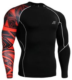 Life On Track Compression Shirts for Men Long Sleeves Printing Base Layer Running Training Gym MMA Body Building Workout Fitness Fix Gear Top (Intl) #runningtraining