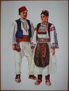 Traditional Folk Costumes | Details about Bosnia Folk Costume Rekavica - I/13
