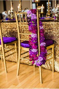 #purple #lavender #wedding #chair #decor #cocktail #hour