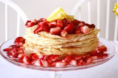 delia creates: Lemon Strawberry Crepe Cake