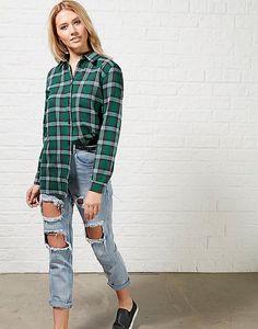 #ARKLOVES > Hearts and Bows Lucina Check Boyfriend Shirt #tartanshirt #checks