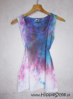 Tank top Splash-dye damski M | Hippie Style