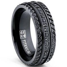 <li>Black cubic zirconia ring</li><li>Titanium jewelry</li><li><a href='http://www.overstock.com/downloads/pdf/2010_RingSizing.pdf'><span class='links'>Click here for ring sizing guide</span></a></li>
