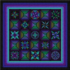 Love Amish quilts with the vibrant colors against the black background.
