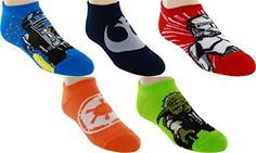 Lucas Film Boys Star Wars 5 Pack No Shows Sock Size 685 996hp Assorted ** Check out this great product.