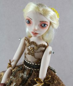OOAK Art Doll Kay made with polymer clay by hand by elenaoriginals, $165.00