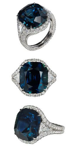 Bayco Jewels colour changing sapphire and diamond ring