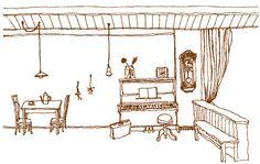 ヘイクの畑の野菜を一部使っていただいている喫茶 tayu-tauさんのホームページ。