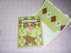 Argyle Cricut Card Idea