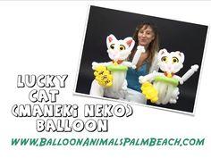 d4d856f3a91 How To Make A Lucky Cat Balloon (Maneki Neko Balloon) - Balloon Animals  Palm Beach