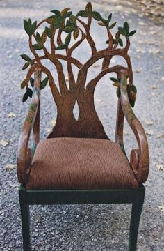 Hand Carved Chair - Foter