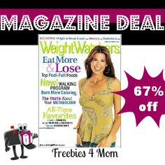 $4.49 is a very good price for Weight Watchers Magazine *April 9 Only* http://freebies4mom.com/2013/04/09/weightwatchers/