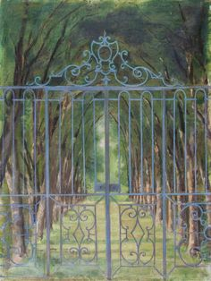 Beda Stjernschantz (Finnish painter) 1867 - 1910 Ristikkoportti (Gallergrinden) (The Gate Grid), 1892