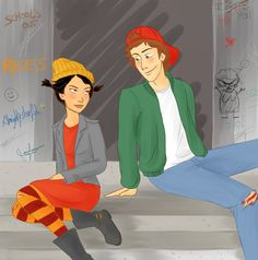 This is for Her deviation [link] inspired me too much and I really wanted to draw them too ^^ And I wanted for a long time drawing somthing for her, 'ca. Recess - TJ and Spinelli Cartoon List, Couple Cartoon, Cartoon Tv, Recess Cartoon, English Girls, Cartoon Ships, Disney Marvel, People Photography, Celebrity Crush
