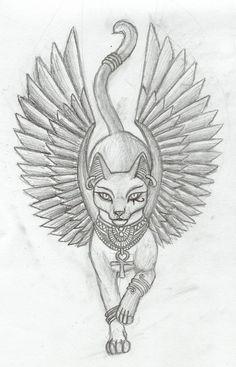 Wonderful Egyptian Goddess Cat Tattoo Drawing- love this face, to fix my cat ta. - Wonderful Egyptian Goddess Cat Tattoo Drawing- love this face, to fix my cat tattoo - Egyptian Cat Tattoos, Egyptian Drawings, Egyptian Tattoo Sleeve, Arabic Tattoos, Wiccan Tattoos, Indian Tattoos, Egyptian Goddess Tattoo, Egyptian Symbols, Egyptian Art