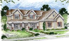 Elevation of Country   Farmhouse  Traditional   House Plan 44065