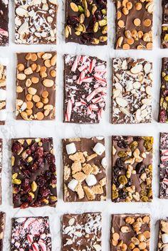 6 Christmas Chocolate Bark Recipes | Homemade Christmas gifts, Christmas recipes and more from @cydconverse