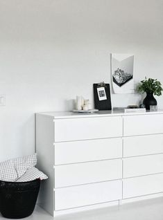 Im a bit of a fan of the simple Ikea 'malm' drawers. We have the 3 drawer version as bedside tables - hello storage!! At $100 each {in ...