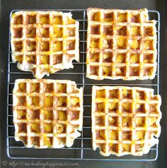 Gluten Free Loaded Baked Potato Waffles | Great use for leftover mashed potatoes! | Gluten free recreation from Joy the Baker's Mashed Potato, Cheddar, and Chives Waffles recipe