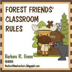 23 classroom rules + 5 bonus bathroom rules.  Perfect for a forest friends and/or camping classroom theme.  $
