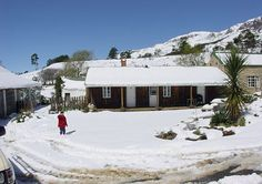 A white blanket on Mount Park Guest Farm in Howick.