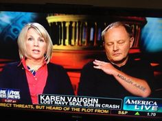 Parents of Aaron Vaughn, a Navy Seal killed on sent a subtle message while being interviewed on Foxnews. Father Son Tattoo, Father Tattoos, Karen Vaughn, Seal Team 6, Daddy Tattoos, New Zealand Tattoo, Family Show, Dad Quotes
