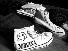 Nirvana Chucks.  Want.