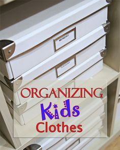 Fantastic post about organizing kids clothes by my guest, @Lisa Pennington