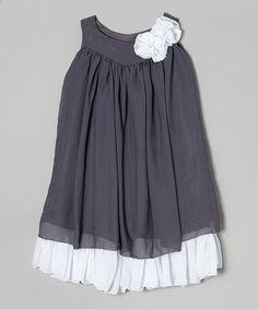 Loving this Gray White Swing Dress $15