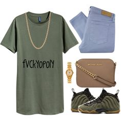 Untitled #367 by fvckyopoly on Polyvore featuring polyvore, fashion, style, Victoria Beckham, MICHAEL Michael Kors, American Apparel, Givenchy, NIKE and clothing