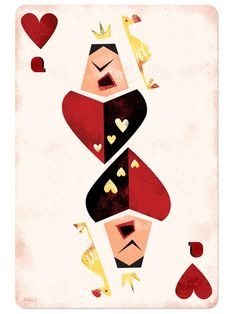 Queen of Hearts card-- print on canvas to hang in master bedroom.