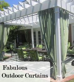 Outdoor curtains- Such a great idea!