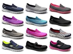 Skechers GO WALK 2 Womens Ladies Walking Running Fitness Aerobics Trainersk...*I'll take a pair in every color, please*