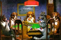 Peinture : 'Dogs playing Poker', icône de la culture pop 0001