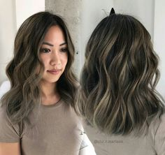 Ash brown bayalage highlights