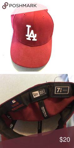 a615c833174 New Era LA Dodgers hat in burgundy. New Era fitted LA Dodgers cap. Genuine