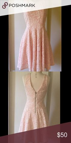 Beautiful baby pink fit and flare summer dress. Brand new without tags! Dresses