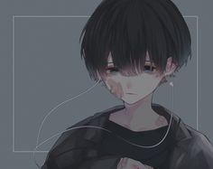 Sad Anime, Anime Oc, Kawaii Anime, Manga Anime, Manga Art, Dark Anime Guys, Cool Anime Guys, Cute Anime Boy, Anime Triste