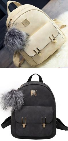 Best hot sale backpack ! Fashion Frosted PU Zippered School Bag With Metal Lock Match Backpack #school #Backpack #lock #bag #fashion