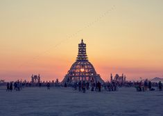 Temple of Grace by David Best, an installation at Burning Man in 2014. Photograph by Zipproah Lomax