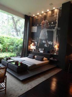 Modern interior design bedroom bachelor pad #interiordesign #moderninteriordesign