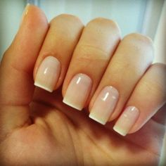 So simple and elegant, perfect wedding/everyday nail. So versatile !